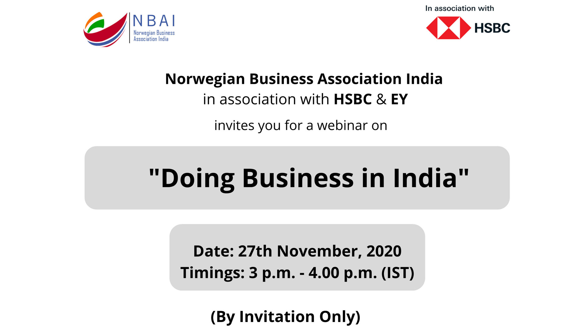 """WEBINAR ON """"DOING BUSINESS IN INDIA"""""""