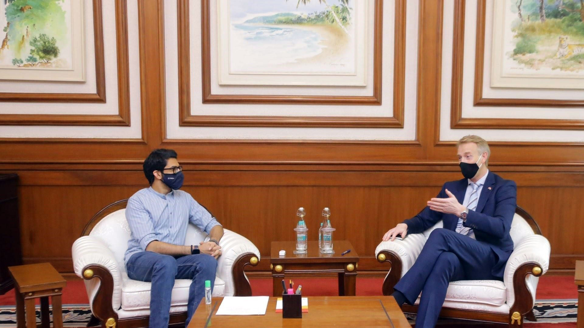 ROYAL NORWEGIAN CONSULATE GENERAL ALONG WITH NORWEGIAN BUSINESS ASSOCIATION INDIA (NBAI) & INNOVATION NORWAY MEETS HONORABLE MINISTER, GOVERNMENT OF MAHARASHTRA,  Mr. AADITYA THACKERAY
