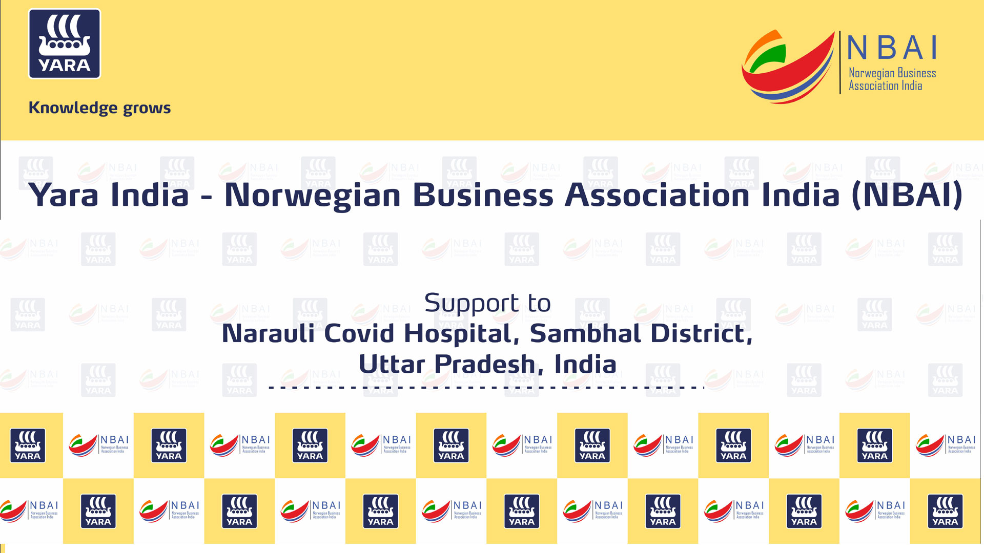 #FIGHT AGAINST COVID :  YARA INDIA PVT. LTD ALONG WITH NBAI – INITIADED A SMALL EFFORT TO FIGHT CORONA VIRUS