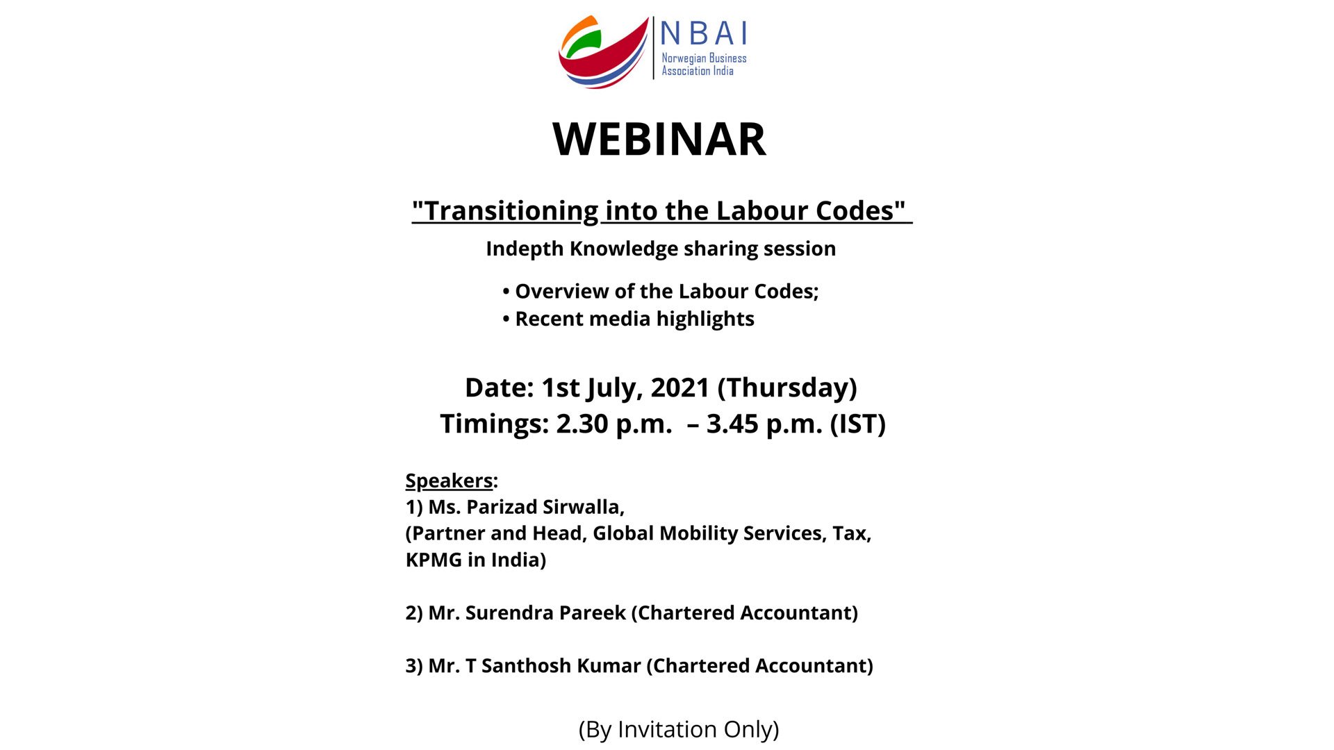 TRANSITIONING INTO THE LABOUR CODES (KNOWLEDGE SHARING SESSION)